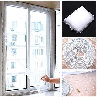 Fliegengitter Fenster Insect Stop 2er Pack Insektenschutz mit Klettband selbstklebend 1.3m * 1.5m Schwarz Moskitonetze f/ür Fenster sch/ützen die Familie vor Insekten
