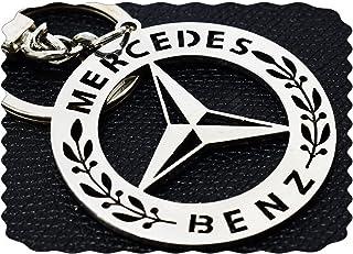 ميدالية مفاتيح مرسيدس بنز من الفولاذ المقاوم للصدأ