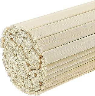 Fasdu 120pcs 15.7 inch Extra Long Natural Bamboo Sticks Bamboo Strips Wood Craft Sticks Strong Natural Bamboo Sticks