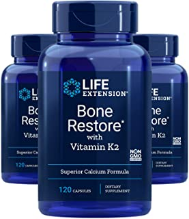 Bone Restore with Vitamin K2 120 Capsules-Pack-3