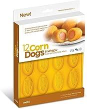 Mobi 12 Mini Corn Dogs Silicone Baking Mold, Yellow