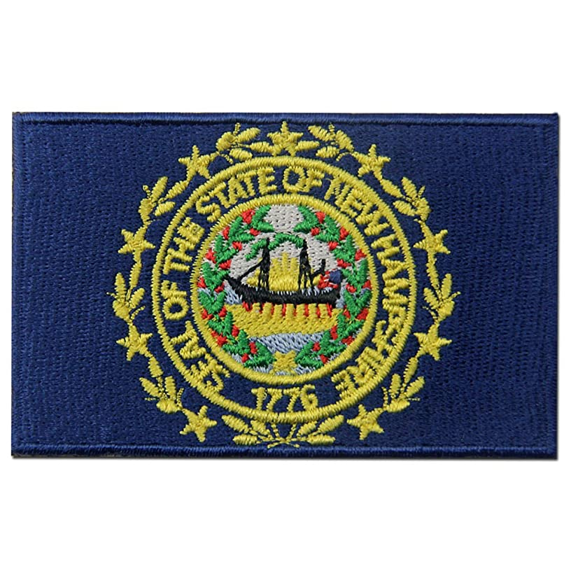New Hampshire State Flag Embroidered Emblem Iron On Sew On NH Patch