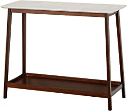 TMS JHOVIES Faux Marble Mid Century Living Room Tall Entryway Console Table, 39.3