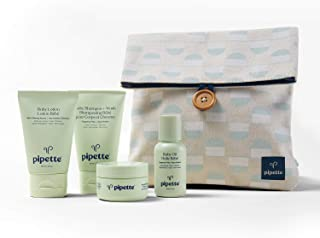 Sponsored Ad - Pipette Baby Wash and Moisturize Travel Kit with Renewable Plant-Based Squalane (5-Piece Set)