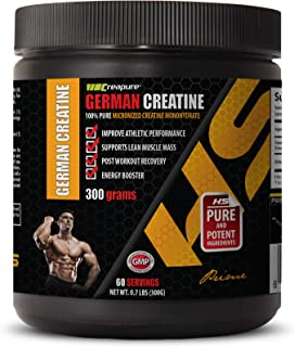 Bodybuilding Supplements for Men Muscle Grow - German CREATINE Powder - 100% Pure MICRONIZED CREATINE MONOHYDRATE - Creati...