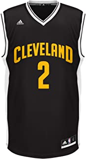 NBA Cleveland Cavaliers Kyrie Irving #2 Chevron Fashion Replica Jersey, Black, XX-Large