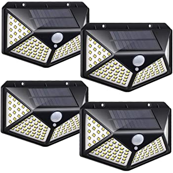 Waterproof 180//45 LED Solar Lamp Outdoor Garden PIR Motion Sensor Wall Light NEW