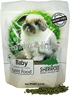 Sherwood Pet Health Baby Rabbit Food, 4.5 lb. - (Soy, Corn & Wheat-Free) - (Vets Use)