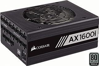 Corsair AX1600i - Fuente de Alimentación Digital Totalmente Modular (1600 W, Certificación 80 Plus Titanium) Negro