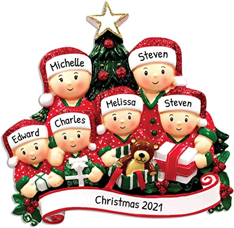 Family Christmas Ornament Choose Your Personalization Personalized Christmas Ornament Penguin Family of 5