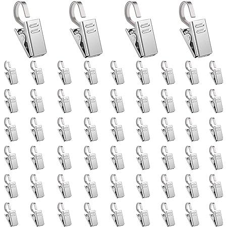 B Baosity 10Pcs Vorhang Clips mit S Haken Vorhanghaken Klammer Mehrzweckclips f/ür Vorhang Fotos Haus Dekoration
