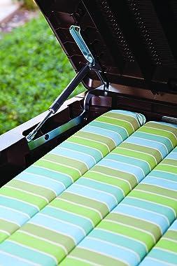Keter Sumatra 135 gallon Outdoor Storage Rattan Deck Box, Brown