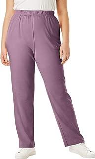 Roamans Women's Plus Size Straight-Leg Soft Knit Pant