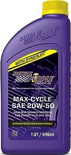 Óleo de motocicleta sintético Royal Roxo Max Cycle 20W-50 de alto desempenho