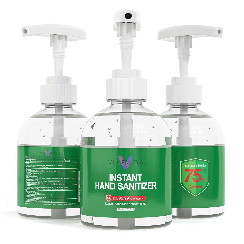 VINEVIDA Bulk Hand スーパーセール 2020秋冬新作 Sanitizer 16 oz Pack 75% Bottles Alcohol 3