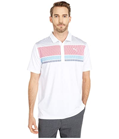PUMA Golf Road Map Polo (Barbados Cherry/Ibiza Blue) Men
