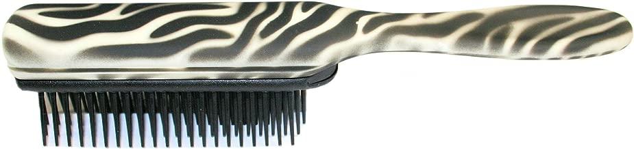 Denman D3 Zebra Hairbrush, White