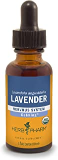 Herb Pharm Certified Organic Lavender Flower Liquid Extract for Calming Nervous System Support - 1 Ounce (Pack of 2)
