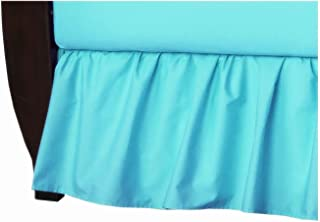 American Baby Company 100% Natural Cotton Percale Ruffled Crib Skirt, Aqua, Soft Breathable, for Boys and Girls