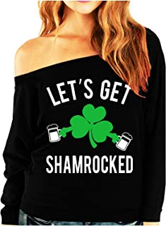 Let's Get Shamrocked St. Patrick's Day Slouchy Light Weight Shirt