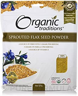 Sprouted Flax Organic Traditions 8 oz Seed