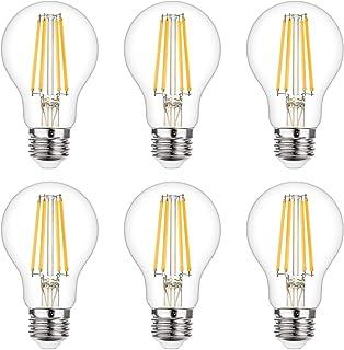 A19 LED Edison Bulb 9W LED Filament Bulb 75-100W Incandescent Equivalent 1100LM High Brightness 2700K Soft White 90+ CRI D...