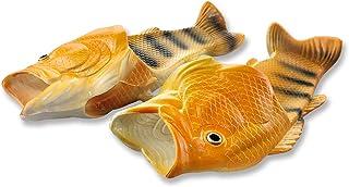 Uniqstore Sandalias Tricky Pescado Zapatillas de Estar por casa Creativas Pescado Estilo Playa Simulación Pez Playa Zapati...