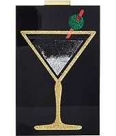 Alice + Olivia - Martini Glitter Quicksand Lucite Clutch