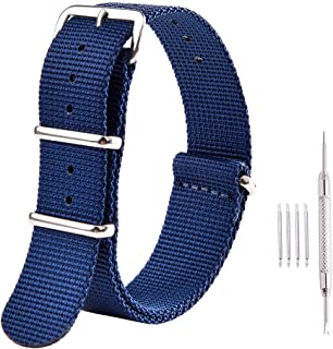 Premium NATO Strap 18mm 20mm 22mm Nylon Replacement Watch Band for Men Women