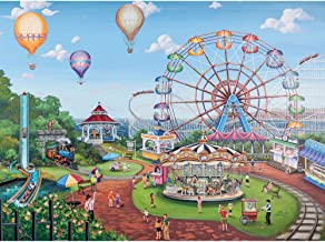 Bits and Pieces - 500 Piece Jigsaw Puzzle - Carnival Day - Ferris Wheel at the Fair - by Artist Joelle McIntyre - 500 pc Jigsaw
