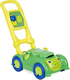 Melissa & Doug Sunny Patch Snappy Turtle Mower (Pretend Play Lawnmower Push Toy, Great Gift for Girls and Boys - Best for 2, 3, and 4 Year Olds)