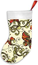 Floral Ornate Nature Christmas Stockings 16.5 Inch Plush Decorations for Family Celebrate Seasonal Decor Tree Ornament Par...