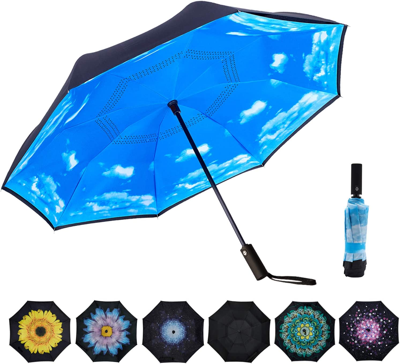 VIWINVELA Fashionable Inverted Automatic Umbrella Windproof Layer Double Tucson Mall Rev