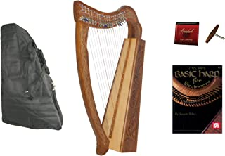 Roosebeck 19-String Pixie Harp w/Chelby Levers + Bag + Book + Extra Strings