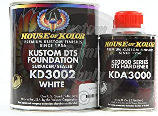 House Kolor Kustom DTS Epoxy Surfacer Sealer Kit, White, Pt# KD3002