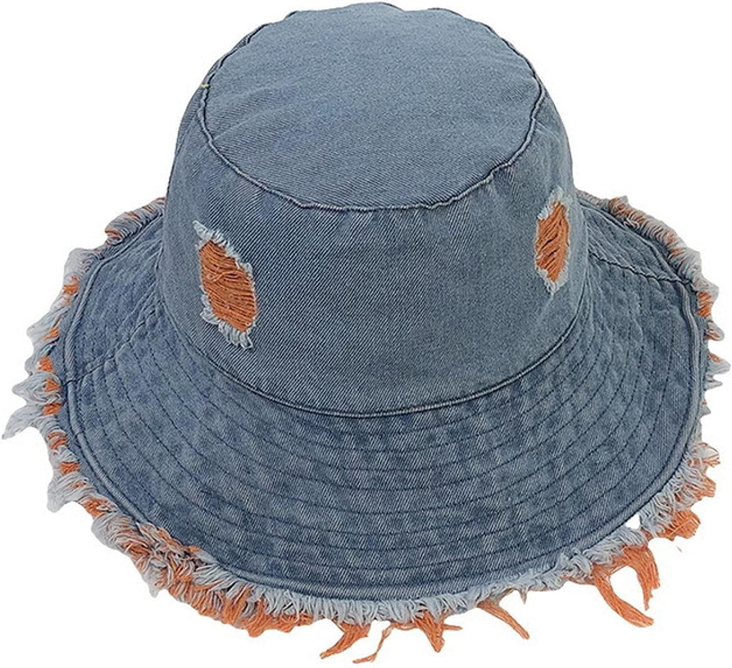 Very popular Limited Special Price MLOPPTE hat Summer Women Bucket Hat Old Ed Rough Cowboy with