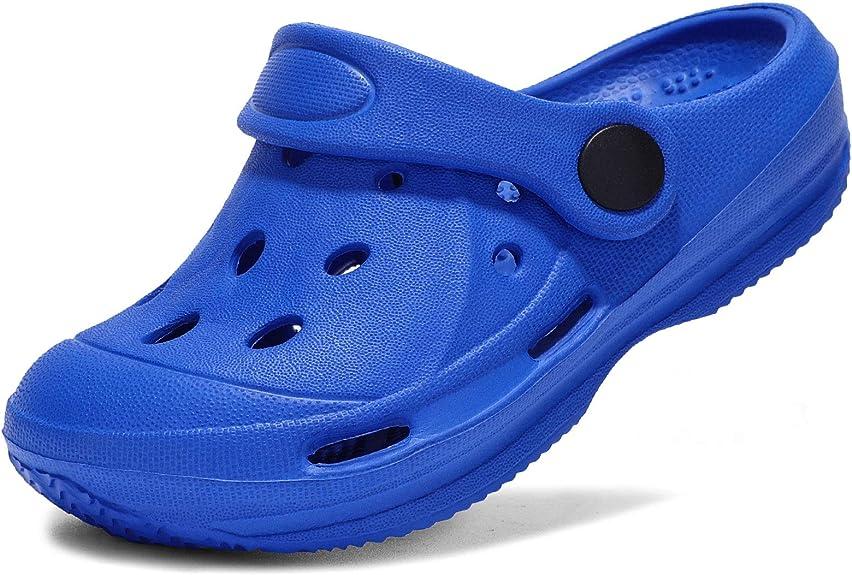 STQ Kids Garden Clogs with Backstrap | Fuzzy Lined Slippers | Slip on Boys Girls Water Sandals | Toddler, Little Kid, Big Kid