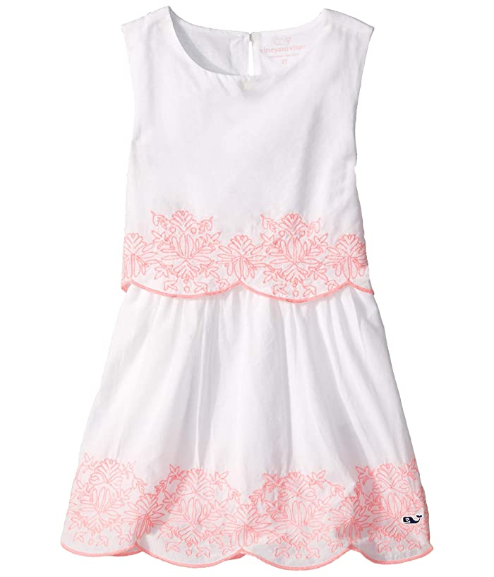 1920s Children Fashions: Girls, Boys, Baby Costumes Vineyard Vines Kids Embroidered Tiered Shift Dress ToddlerLittle KidsBig Kids White Cap Girls Clothing $52.13 AT vintagedancer.com