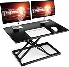 """SIMBR Standing Desk Converter, 32"""" Height Adjustable Stand Up Desk Converter Gas Spring Desk Riser Converter Sit to Stand ..."""