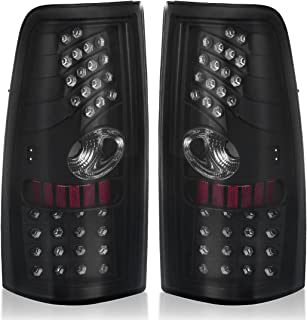 LED Tail Lights for Chevy Silverado 1999 2000 2001 2002 2003 2004 2005 2006, Tail Lamp for GMC Sierra 1999-2003 (Black Smoke Replacement Assembly DO NOT FIT BARN DOOR MODELS OR STEPSIDE MODELS)