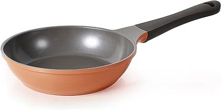 Neoflam 8-Inch Eela Frying Pan with Bakelite Handle and Ecolon Non-Stick Coating, Orange