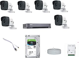 HIKVISION Full HD 5MP Cameras Combo KIT 8CH HD DVR+ 6 Bullet Cameras +2TB Hard DISC+ Wire ROLL +Supply & All Required Conn...