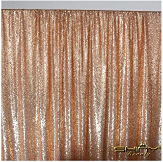 ShiDianYi 4FTX6FT-Rose Gold-Sequin Photo Backdrop, Wedding Photo Booth,Photography Background (Rose Gold)