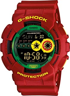 Men's G-Shock Red Resin Digital Strap Green Tone Watch GD100RF-4DR LIMITED EDITION