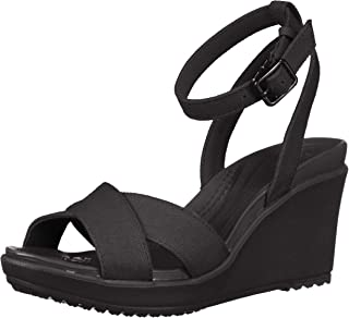 Crocs Women's Leigh II Cross Strap Ankle Wedge