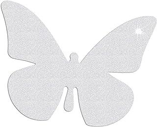 Reflektor Aufkleber Schmetterling, Reflexfolie Sticker, reflektierend (silberweiß)