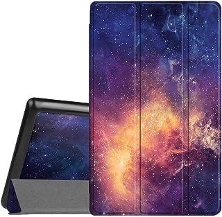 Fintie スリムケース Amazon Fire HD 8タブレット (第7世代 2017年発売) 用 超軽量 スリムシェル スタンドカバー 自動起動/スリープ機能付き
