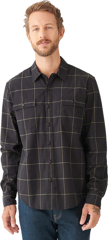 Lucky Brand Men's Long Sleeve Button Plaid Up Over item handling San List price Gabriel Shirt