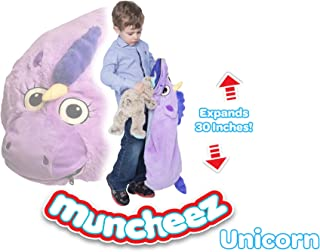 Muncheez Stuffed Animal Toy Storage for Children, Unicorn - Perfect for Kids - SUPER SOFT Fabric - 7 Plush Animal Choices - Upgrade Your Mesh Toy Nets & Toy Hammock - Extra Storage for Your Toys