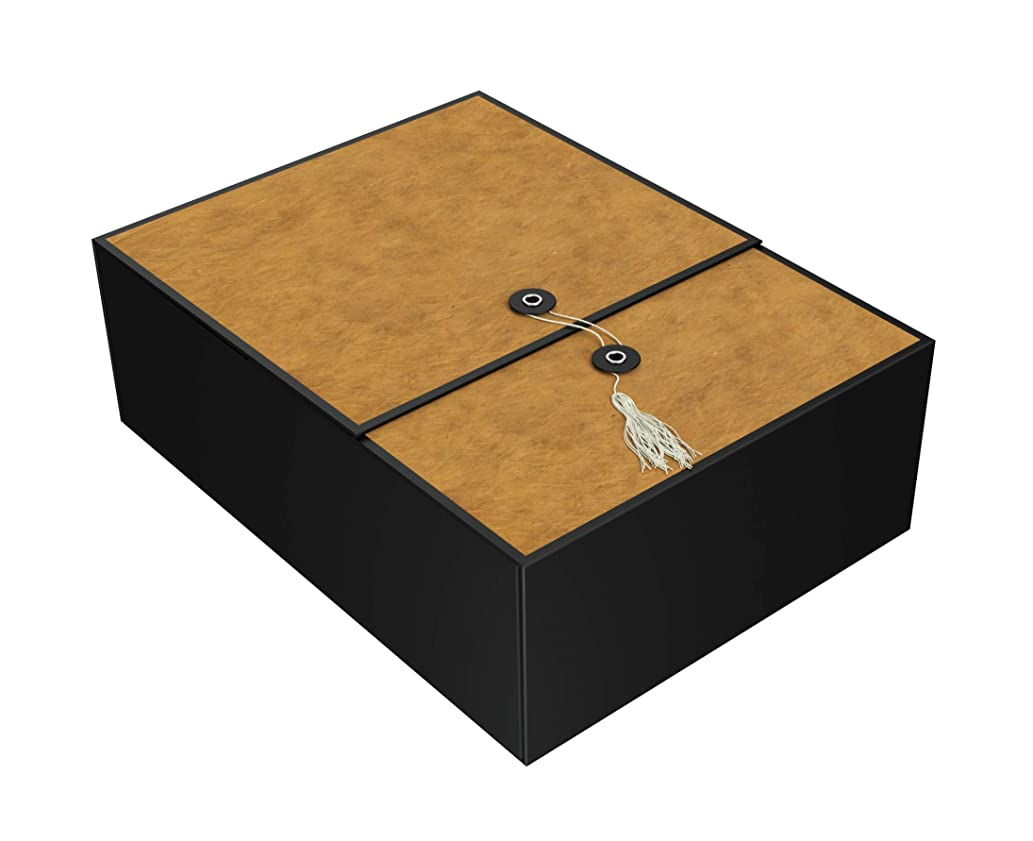 Gift Box Tobacco Karma 12x9x4 Pop up in Seconds Comes with Decorative Tassel, Greeting Card, and Tissue Paper - No Glue or Tape Required